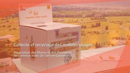 Opération de collecte et de recyclage des mobiles usagés : L'AMF de Tarn et Garonne s'associe à Orange