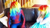 Spiderman & Frozen Elsa vs Jelly Bean Spell! w_ Anna Thor Hulk! Superhero Fun  -) | Superheroes | Spiderman | Superman | Frozen Elsa | Joker