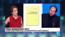 "Prix Renaudot ""la disparition de Joseph Mengele"""