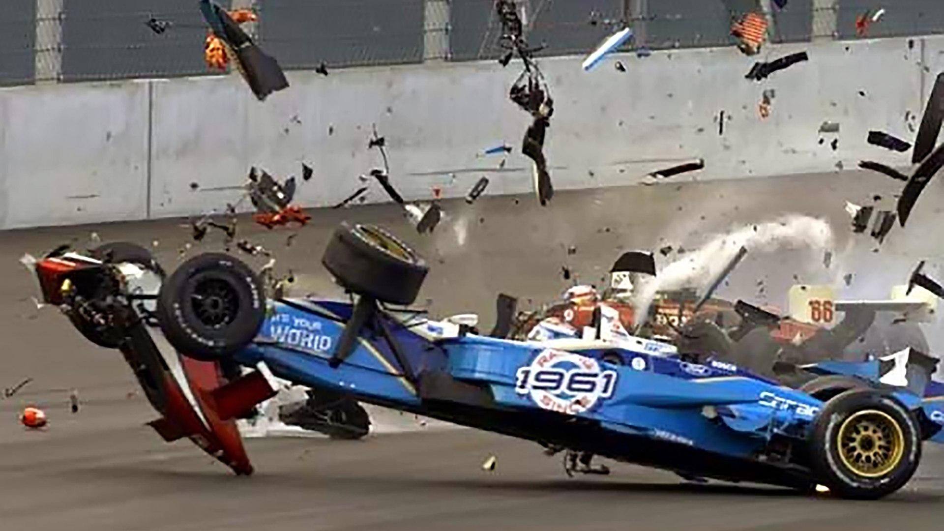Alex Zanardi nearly fatal crash at EuroSpeedway - All Angles + ...