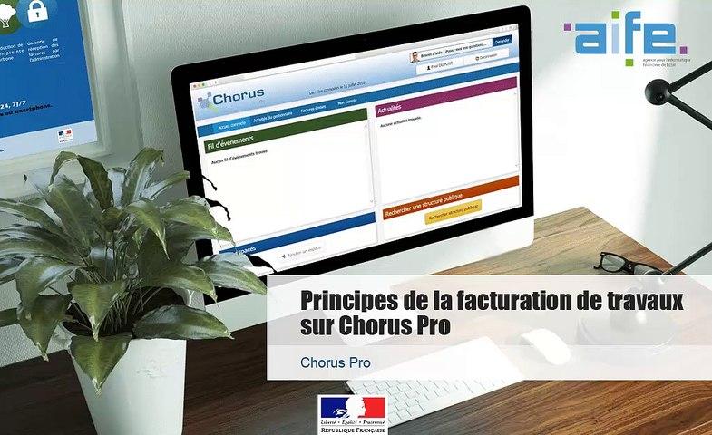 Tutoriel Chorus Pro - MOA - Principes de la facturation de travaux