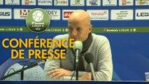 Conférence de presse FC Sochaux-Montbéliard - Valenciennes FC (3-1) : Peter ZEIDLER (FCSM) - Réginald RAY (VAFC) - 2017/2018