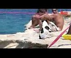 Diving Dog Pet Jack Russell 'Titti' Jumps From Rocks With Her Owner