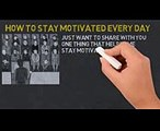 MOTIVATION TRICK THAT CHANGED MY LIFE  HOW TO STAY MOTIVATED EVERYDAY FOR BUSINESS AND STUDENTS