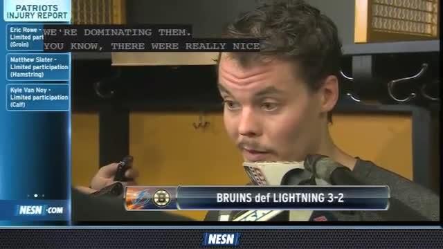Tuukka Rask Breaks Down Bruins' Performance Vs. Lightning
