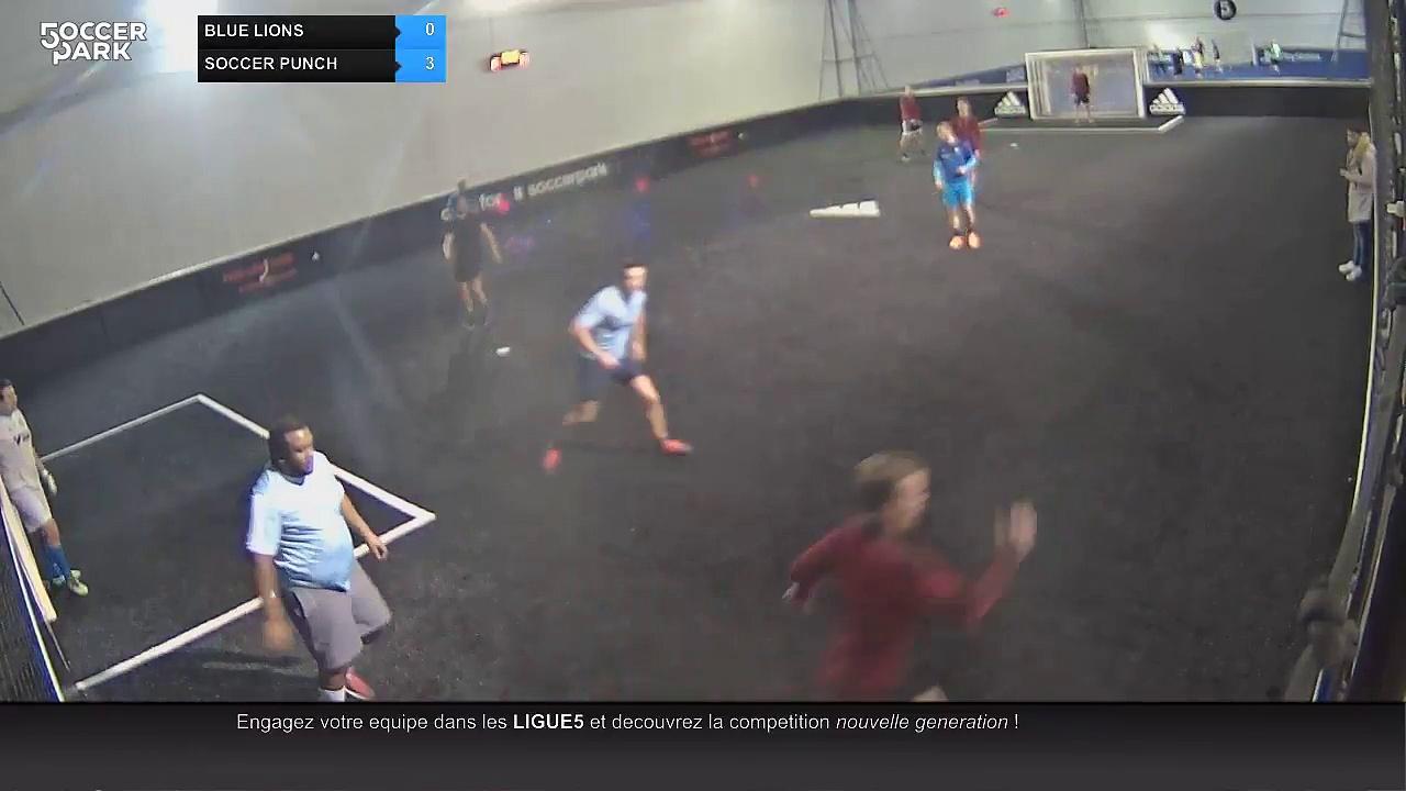 BLUE LIONS Vs SOCCER PUNCH – 29/11/17 20:00 – LIGUE 1 MERCREDI SOCCER PARK – Orleans Soccer Park