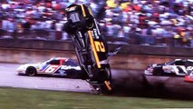 Rusty Wallace flipped across the finish line at Talladega (May 2, 1993) NASCAR - THE MOST COMPLETE FOOTAGE
