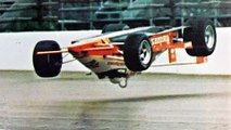 Pancho Carter huge airborne crash and slide at Indy 500 (May 3, 1987) VIDEO & ALL PICS