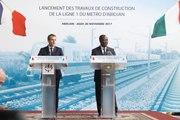 Discours du Président de la République, Emmanuel Macron, lors du lancement des travaux de construction de la ligne 1 du métro d'Abidjan