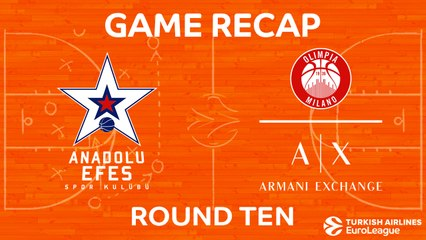 EuroLeague 2017-18 Highlights Regular Season Round 10 video: Efes 73-68 AX Milan