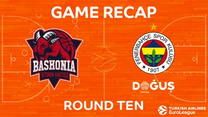 EuroLeague 2017-18 Highlights Regular Season Round 10 video: Baskonia 69-83 Fenerbahce