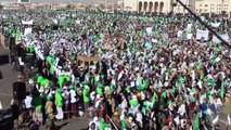 Pro- and anti-Huthi Yemenis mark different events