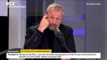 """Tout est politique. """"On n'est jamais à l'abri en Corse d'un basculement de la violence"""", prévient François Pupponi, député Nouvelle Gauche du Val d'Oise"""