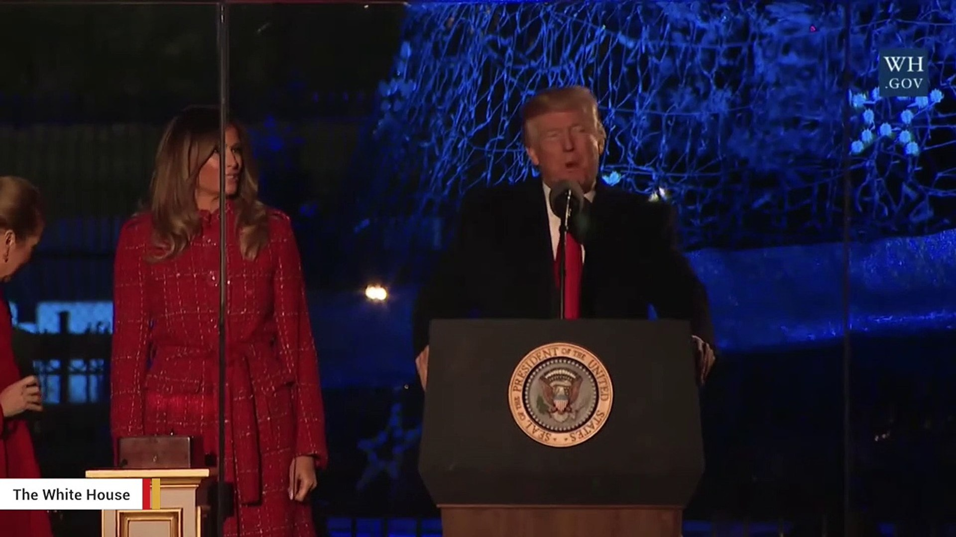 President Trump And Melania Trump Take Part In National Christmas Tree Lighting