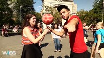 Soccer Freestyler challenge people in a public park _ Wass Freestyle Ball-Bj6ipVVhiqY