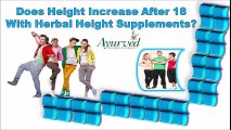 Does Height Increase after 18 with Herbal Height Supplements