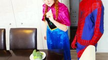 Spiderman vs Frozen Elsa & Anna! Elsa Makes LOLLIPOPS! Real Life Fun Superhero Movie | Superheroes | Spiderman | Superman | Frozen Elsa | Joker