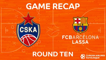 EuroLeague 2017-18 Highlights Regular Season Round 10 video: CSKA 92-78 Barcelona
