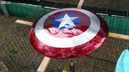 Cpt. Murica Shield for my boy.
