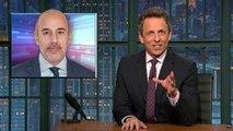 Seth Meyers, Stephen Colbert Tackle Matt Lauer Scandal | THR News