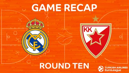 EuroLeague 2017-18 Highlights Regular Season Round 10 video: Madrid 83-87 Zvezda