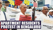 Bengaluru Apartment residents conduct peaceful protest against STP law   Oneindia News