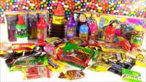 Mexican CANDY Bonanza! Trying Tons of Different Candies from MEXICO! Lollipops! Sweets Review! FUN