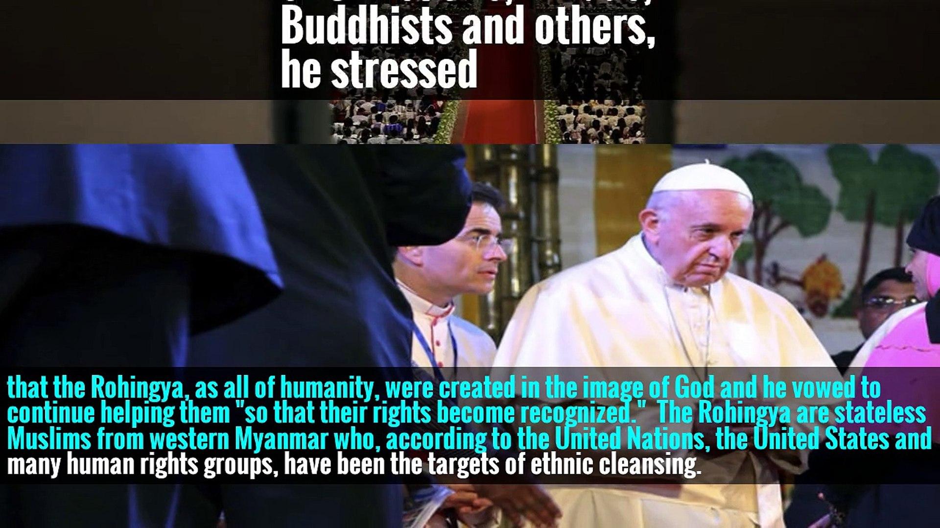 'I Ask Forgiveness,' Pope Francis Tells Rohingya Muslims in Bangladesh
