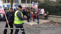 Rassemblement en mémoire de Joail à Vienne (Isère)