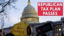 Republican tax plan passes in narrowly passes in Senate