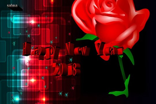 Romantic Happy New Year 2018 3D Images Greetings for Your Loved Ones,Whatsapp status,3D Images,3D Wallpaper,3D Pics