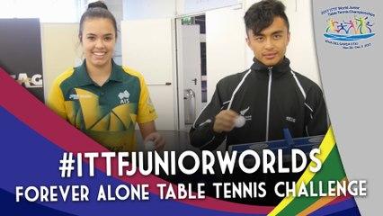 2017 #ITTFJuniorWorlds | Oceania Stars Take on Forever Alone Table Tennis Challenge