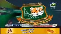 Mohammad Irfan Pakistan leg-spinner who bowls like Shane Warne gets wicket of clueless Chris Gayle