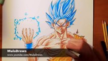 Drawing Goku Ascended Super Saiyan Blue Vs Yair Sasson Art