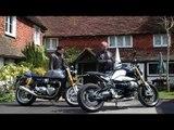 Triumph Thruxton R vs BMW R nineT Review | Visordown back-to-back test