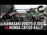 Kawasaki Versys-X 300 Vs Honda CRF250 Rally Motorbike Review   Visordown.com