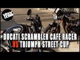 Ducati Scrambler Cafe Racer vs Triumph Street Cup | Visordown.com