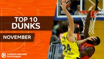 Turkish Airlines EuroLeague, Top 10 Dunks, November