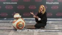 Laura Dern hanging with BB-8 from Star Wars will restore your faith in humanity