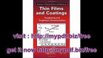 Thin Films and Coatings Toughening and Toughness Characterization (Advances in Materials Science and Engineering)