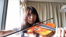 【ヴァイオリンで】天空の城ラピュタより「君をのせて」【弾いてみた】
