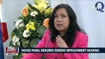 House panel resumes Sereno impeachment hearing