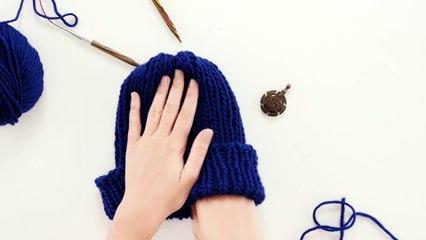 DIY mode : tricoter un bonnet à côtes