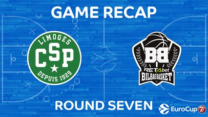 7DAYS EuroCup Highlights Regular Season, Round 7: Limoges 86-74 Bilbao