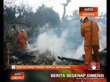 Dua keluarga tinggal sehelai pinggang rumah hangus dijilat api