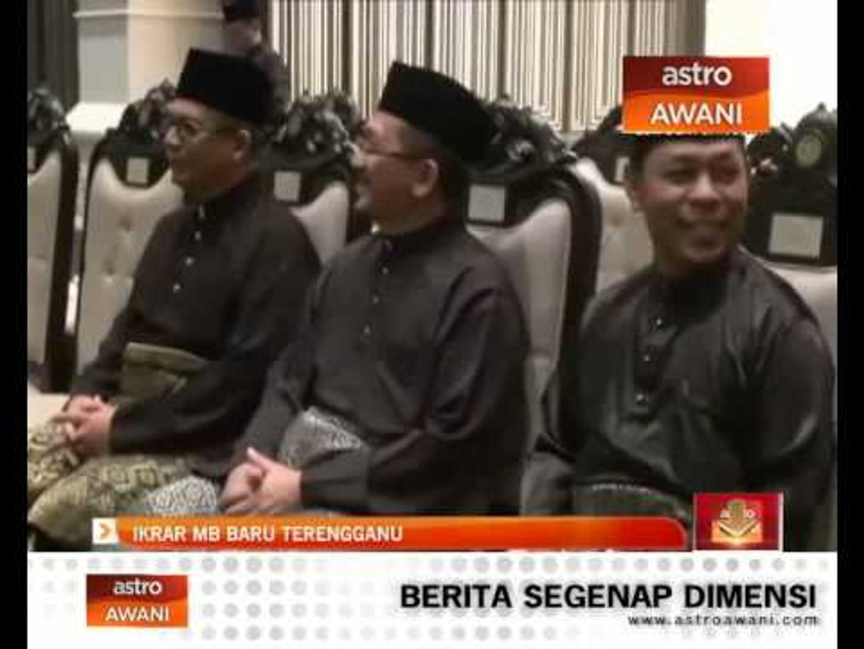 Ikrar MB baru Terengganu