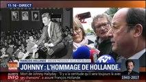 """Mort de Johnny : """"L'hommage national a commencé aujourd'hui"""", estime François Hollande"""