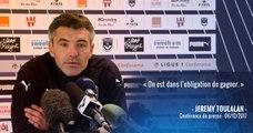 Jérémy Toulalan face à la presse avant Bordeaux-Strasbourg