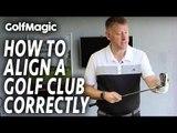 How To Align A Golf Club Correctly   Best Golf Beginner Tips #2   GolfMagic