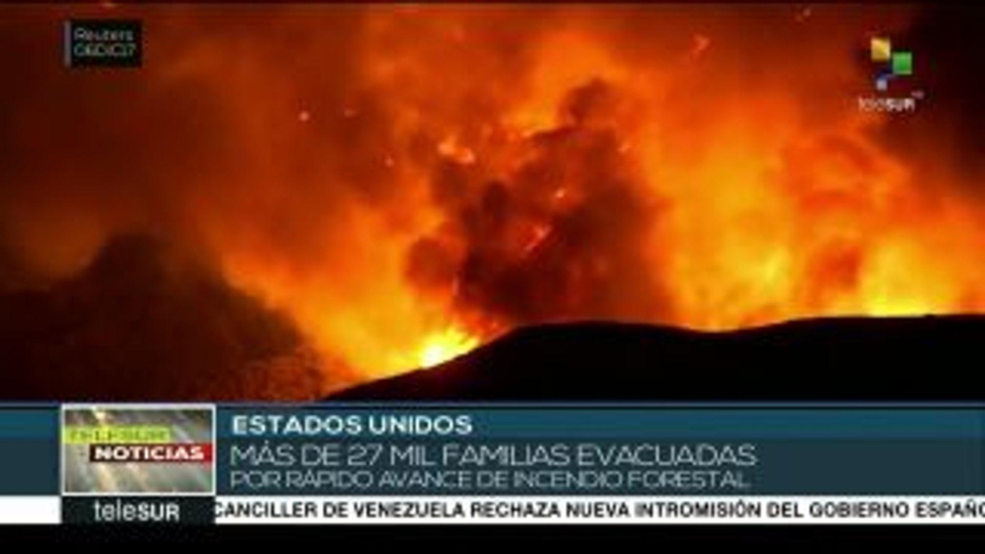 EE.UU.: más de 27 mil evacuados por voraz incendio en California